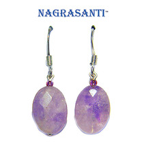Nagrasanti SS Pink Amethyst Drop Earrings - £18.35 GBP