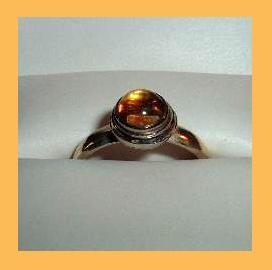 Citrine cab sterling silver ring lighter