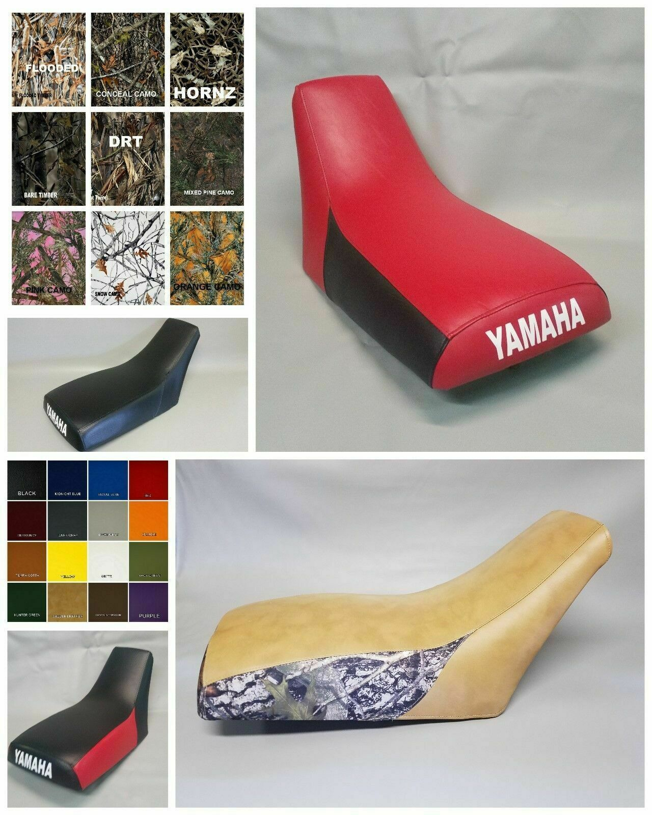 Primary image for Yamaha TRI-MOTO YTM225 SEAT COVER 1983-1986  in 25 COLORS  (ST)