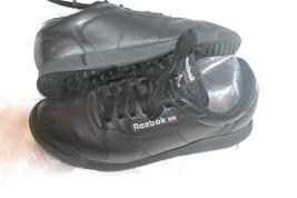 Reebok Classic Black Leather Princess Sneakers Size 7 - $19.80