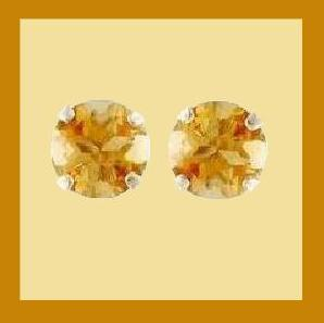 Stud earrings citrine