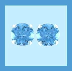Stud earrings topaz 2