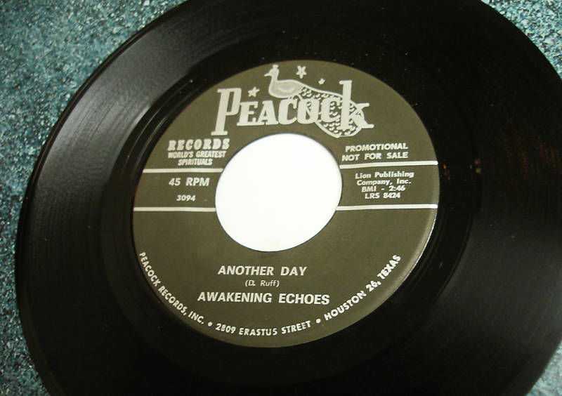 AWAKENING ECHOES Upbeat Gospel Peacock 45 BORN AGAIN Hear It Listen