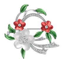 Yoursfs Floral Brooch Wreath Shape Womens Brooch Lapel Pin Shawl Clip Co... - $18.32