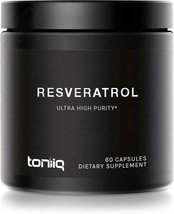 Ultra High Purity Resveratrol Capsules - 98% Trans-Resveratrol - Support... - $27.52