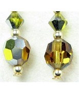 Faceted Vintage AB Swarovski Crystal - Topaz Da... - $41.03