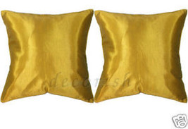 2 GOLD Silk BED COUCH DECORATIVE PILLOW CASES/ CUSHIONS - $8.68