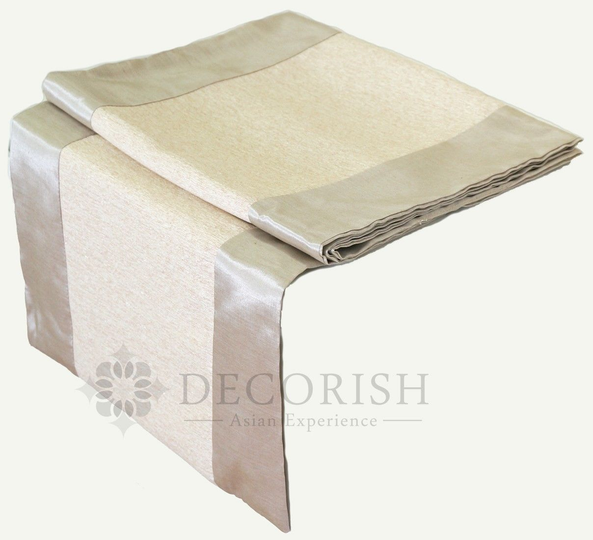 Ivory crea contemporary rectangular silk wedding bed table for 120 table runners
