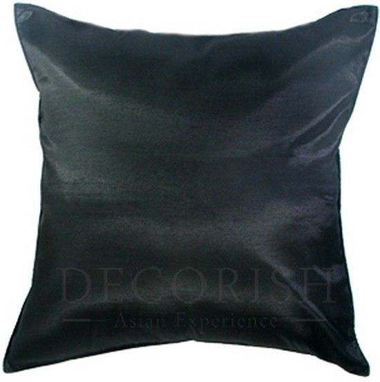1x SILK LARGE DECORATIVE THROW PILLOW COVER FOR COUCH SOFA BED SOLID COLOR 20x20 - Pillows