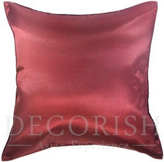 1x Silk Large Decorative Throw Pillow Cover For Couch Sofa