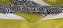2x SILK THROW DECORATIVE PILLOW COVERS LIME Spiral NEW - $10.57