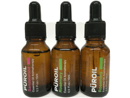LOT OF 3 Puroil Essential Oil Aromatherapy 1 Sandalwood and 2 Rosemary - $15.83