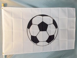SOCCER BALL 3X5' FLAG BIG NEW 3'X5' FUTBOL FOOTBALL Fall Sports - $9.85