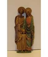 High Relief Holy Family Wall Plaque Italian Import  - $11.99
