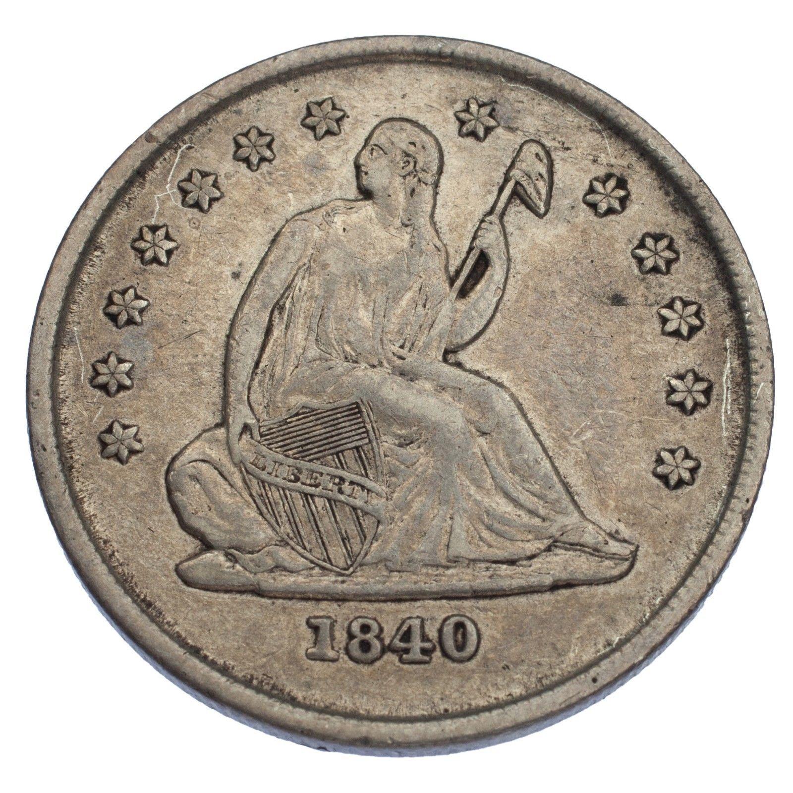 1840-O No Drapery Liberty Seated Quarter 25C (Very Fine, VF Condition)