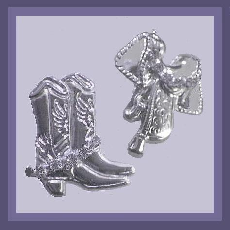 Cowgirl boots   saddle earrings