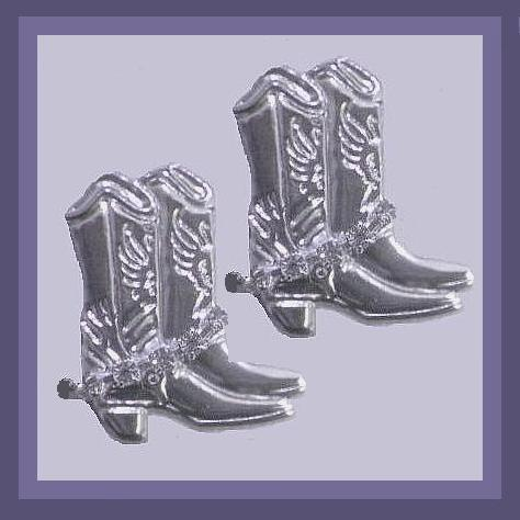 Cowgirl boots earrings xx