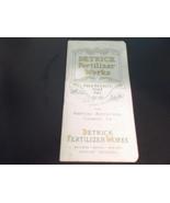 Detrick fertilizer Works Notebook with 1917 and 1918 Calendar - $18.00