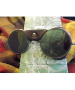 King Motorcycle Glasses or Goggles Tinted With Leather Sides - $90.00