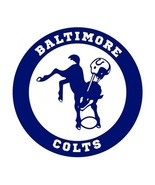 BALTIMORE COLTS VINTAGE FOOTBALL LOGO TEE SHIRT - $19.95+