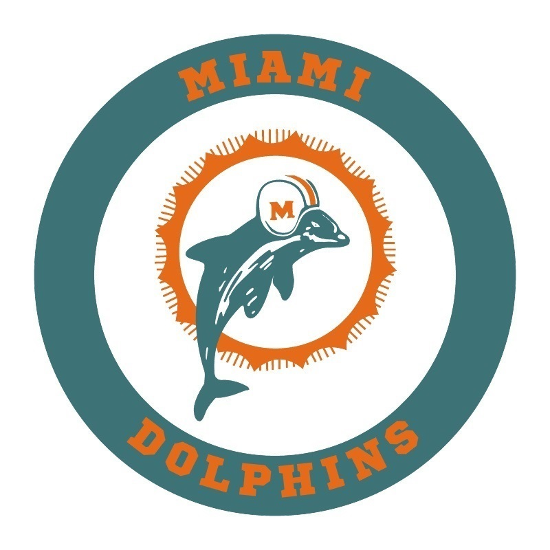 Miami dolphins vintage football logo tee shirt t shirts for Dolphins t shirt new logo