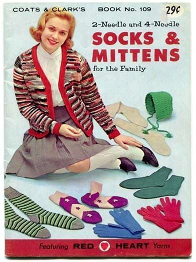 Primary image for 2-Needle and 4-Needle Socks & Mittens for the Family 1959 Coats & Clarks 109