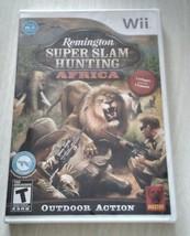Remington Super slam hunting Africa Nintendo Wii Video Game unopened new - $14.56
