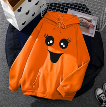 Halloween Hoodie Sweatshirt Pullover Women Sweater (L) Ship From USA image 1