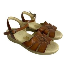 SAS Woman Shoe Size 7 Tripad Comfort Huarache Tan Leather Shoes Buckle  - $34.68