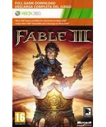 Fable III{3} xbox 360/ONE game Full download card code [DIGITAL] - $11.90
