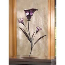 10 Lily Candelabra Purple Candleholder Wedding Centerpieces - $117.00