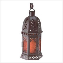 15 Amber Black Lantern Candleholder Wedding Centerpieces - $102.96