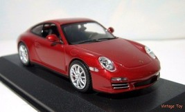 ~ Minichamps Porsche 911 Carrera 4S - 1:43 diecast car -  MIB  Ruby Red ... - $30.00