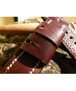 Leather Watch strap Handmade band fit for Panerai Vintage style - $22.92