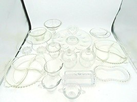 Vintage 1940s Imperial Candlewick Glass Serving Set - 18 Pieces - $198.00