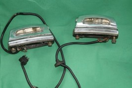 Mercedes W108 W109 W111 250 280 300 S SE Chrome Rear License Tag Plate Lights image 1