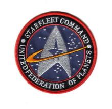 Star Trek Original Series Starfleet Command Logo Embroidered Patch Blue ... - $7.84