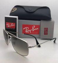 RAY-BAN Sunglasses THE COLONEL RB 3560 003/32 58-17 Silver Aviator w/ Grey Fade image 5