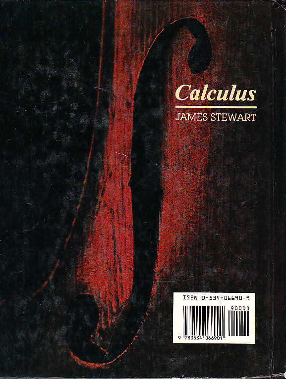 *Calculus by James Stewart Published 1989