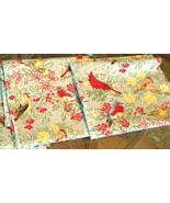 """Bird Themed Fabric Remnant Size approx 32""""x52"""" Reclaimed #4982 - $4.79"""