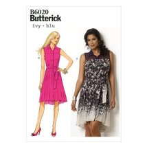 Butterick Patterns B6020A50 Misses' Dress and Belt Sewing Template, Size... - $14.70