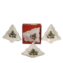 "3 Vintage Nikko Christmastime 6"" Christmas Candy Dish Made in Japan Porc... - $24.99"