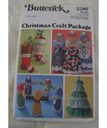 Pattern, Crafts, Butterick #5709 Christmas Craf... - $7.00