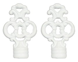 Urbanest Set of 2 Key Lamp Finials, 2 3/8-inch Tall, Matte White - $12.86