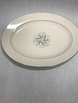 HOMER LAUGHLIN  Oval Platter 1950s Vintage eggshell cavalier Celeste Blu... - $44.54