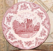 Johnson Brothers OLD BRITAIN CASTLES PINK TOILE Blarney Castle Dinner Pl... - $19.99