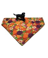 Autumn Fall bandanas for dogs, Reversible Over the collar Chrysanthemum ... - $6.50+