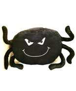 Black Spider Throw Pillow Spooky Scary Halloween Decoration Fun for Kids - $24.74