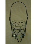 Votive Candle Holder, Matthews Wire, Mini Heart... - $8.00