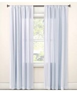 "2 Simply Shabby Chic Blue Stripe Curtain Panel Cotton New 95"" Pair - £34.40 GBP"